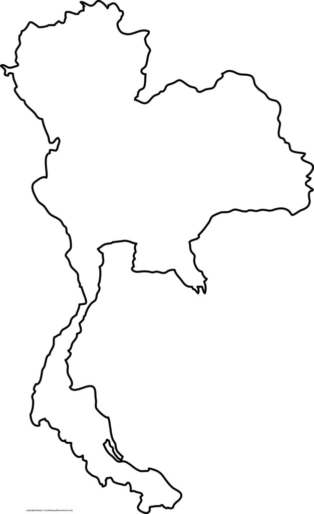 Blank Map Of Thailand Outline