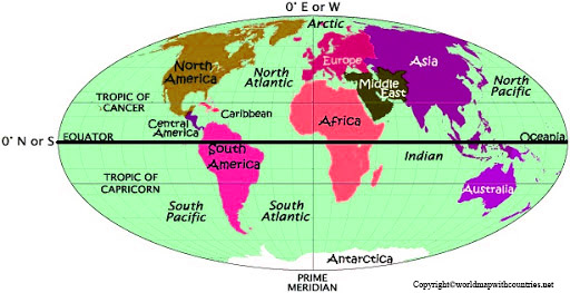 World Map with Hemispheres pdf