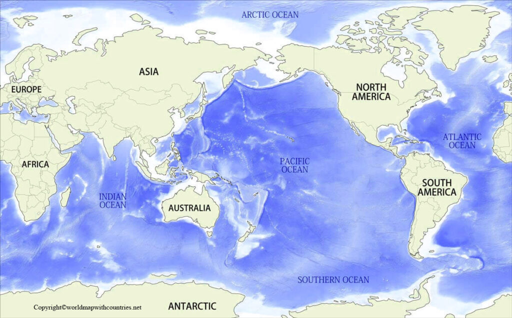 World Map with Pacific Ocean pdf