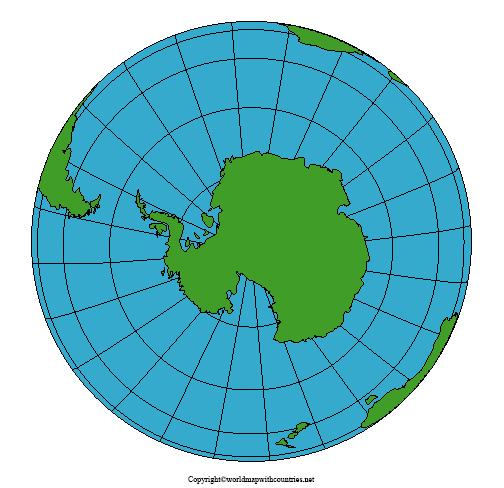 World Map with South Pole pdf