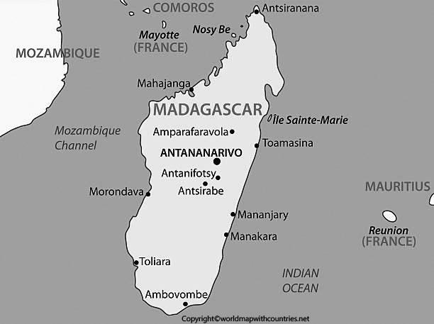 Republic of Madagascar – vector map.