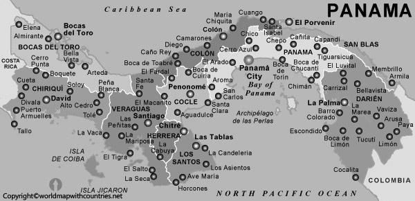 Blank Map of Panama