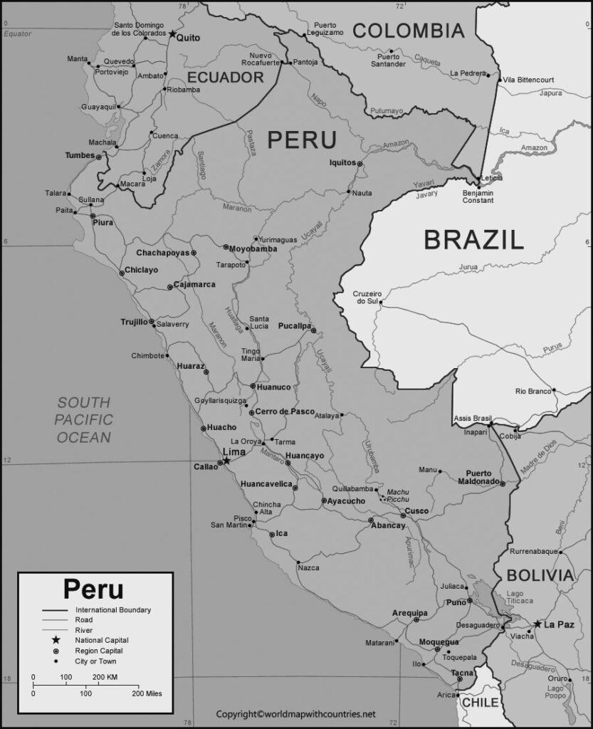Blank Map of Peru