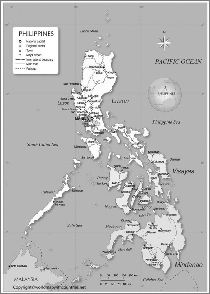 Blank Map of Philippines
