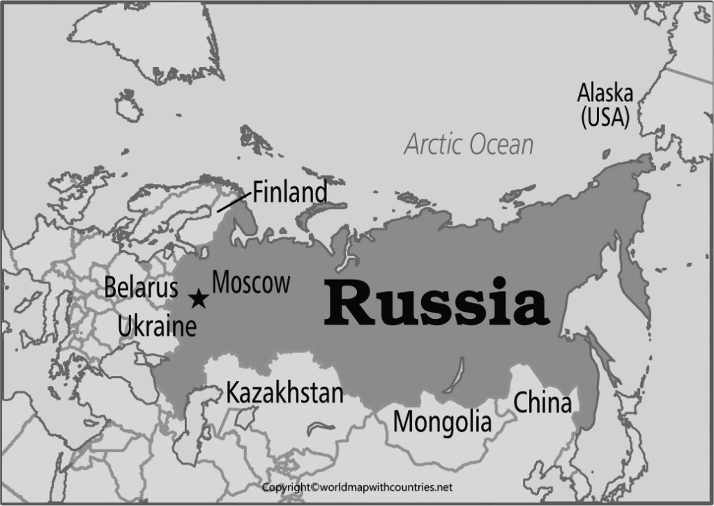 Blank Map of Russia