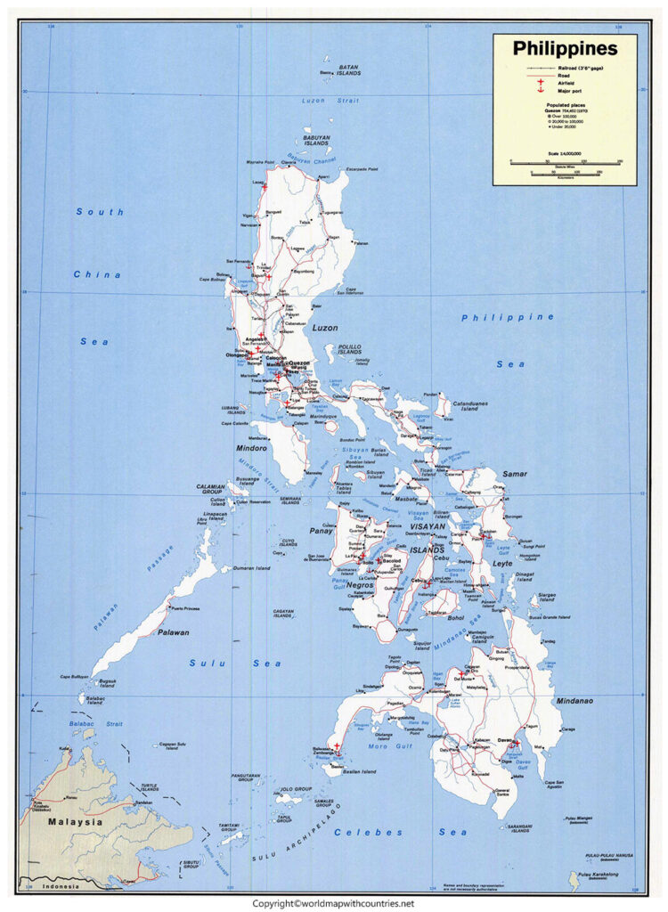 Labeled Map of Philippines