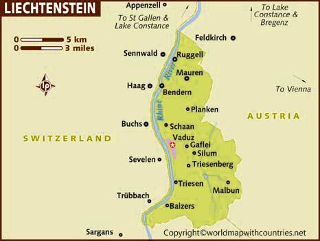 Liechtenstein Map with States
