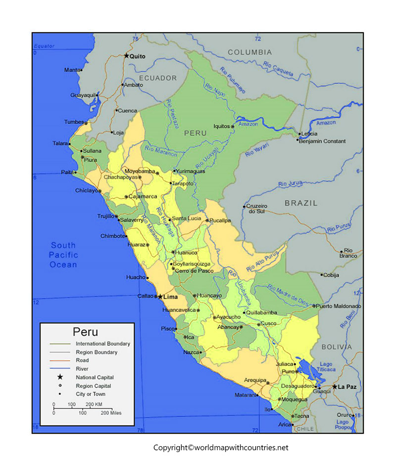 Peru Map with States