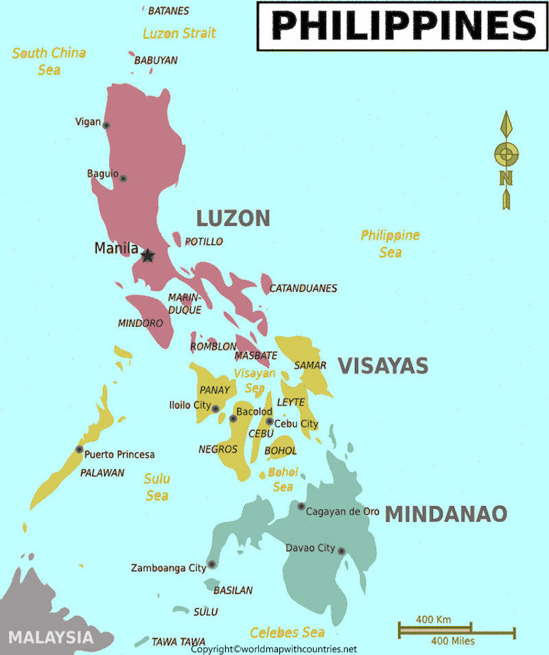 Philippines Map with States