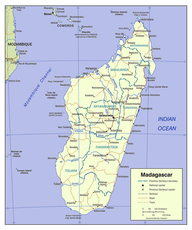 Printable Map of Madagascar