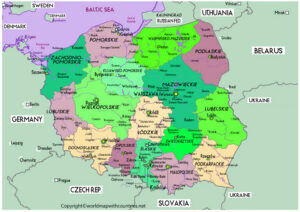 Printable Map of Poland